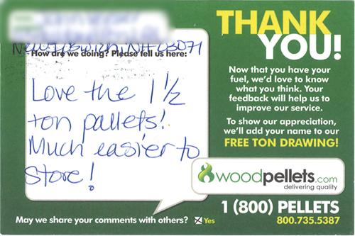 Wood Pellets 1.5 Tons