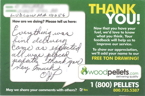 Woodpellets.com Delivery