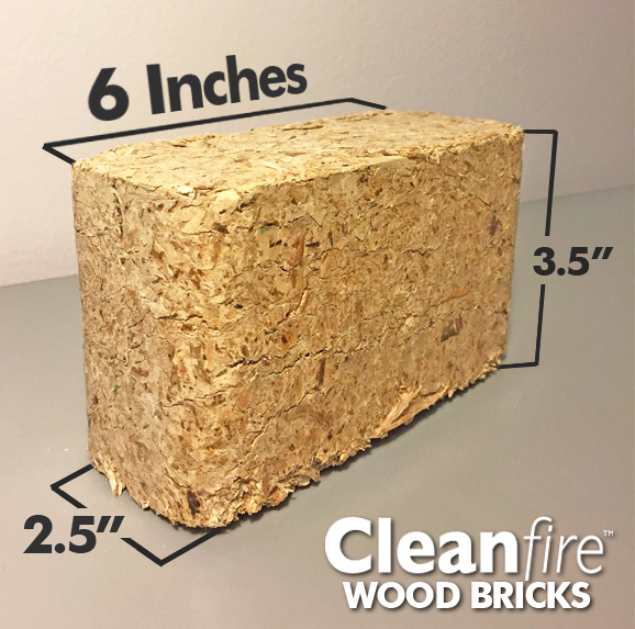 Cleanfire Wood Bricks for the Wood Stove or Fireplace