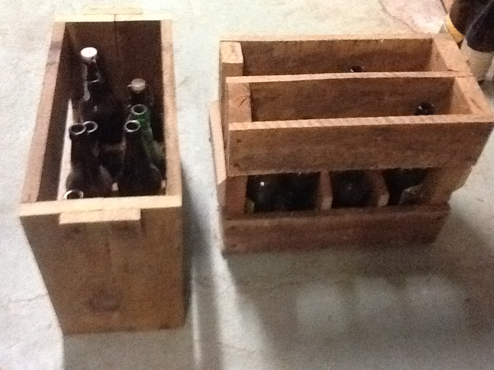 Wood Pallet Bottle Holder