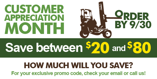 Save Between $20 and $80 on Your Next Order!