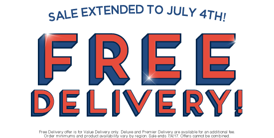 For a Limited Time Only - Free Delivery