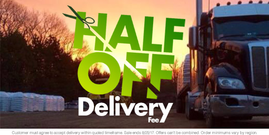 Half-Off Delivery Fee!