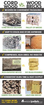Wood Bricks vs. Cord Wood