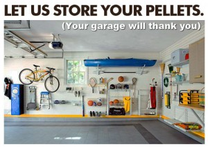 Organized Garage, Clean Garage, Free Wood Pellet Summer Storage