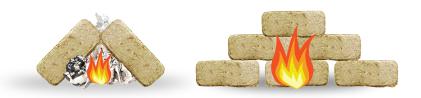 Biomass bricks, compressed wood fuel