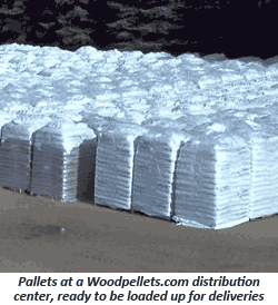 Pallets of Wood Pellets, Ready for Delivery