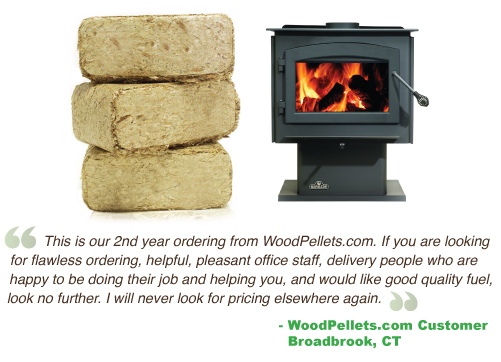 Wood bricks better than cordwood