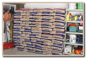 Wood Pellets Stored In Garage