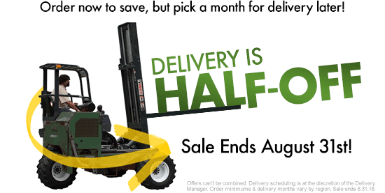 Half-Off Delivery Sale!