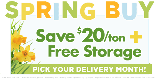 Save $20/ton with Free Storage!