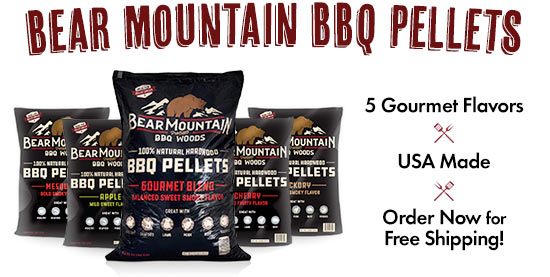 Bear Mountain BBQ Pellets: 5 Gourmet Flavors, USA Made, Shipped Free by Woodpellets.com