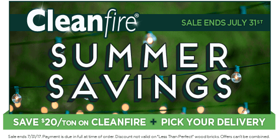Save $20/ton on Cleanfire!