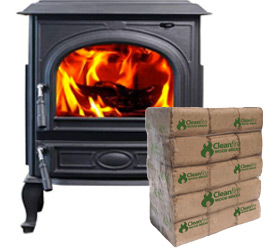 Wood Brick Fuel for Wood Stove Heating