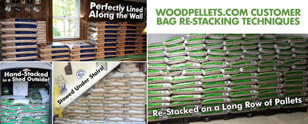 Woodpellets.com Customer Re-Stacking Techniques